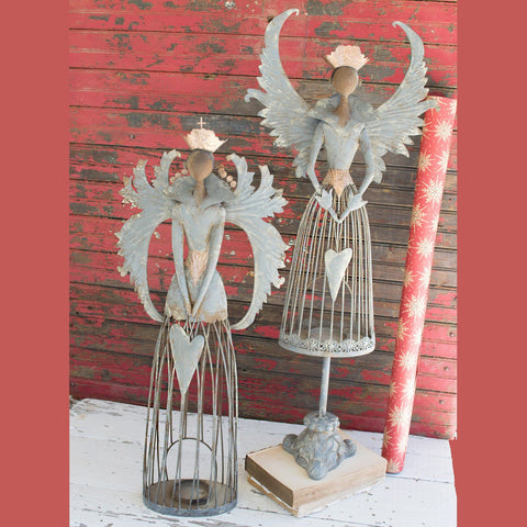 Metal Christmas Angels (Set of 2) - Cece & Me - Home and Gifts