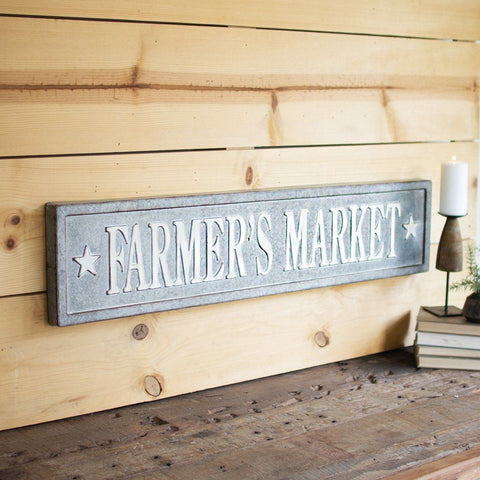 Metal Farmer's Market Wall Decor - Cece & Me - Home and Gifts