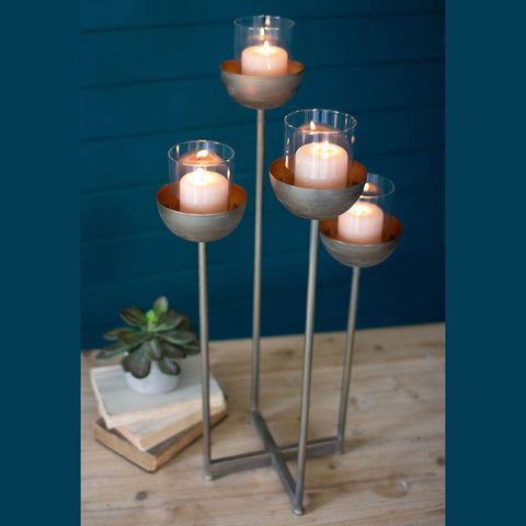 Metal Four Tiered Candle Holder - Cece & Me - Home and Gifts