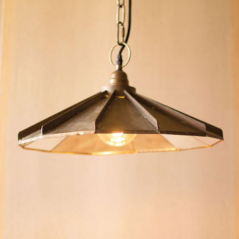 Image of Metal Pendant Lamp With Mirror Detail - Cece & Me - Home and Gifts