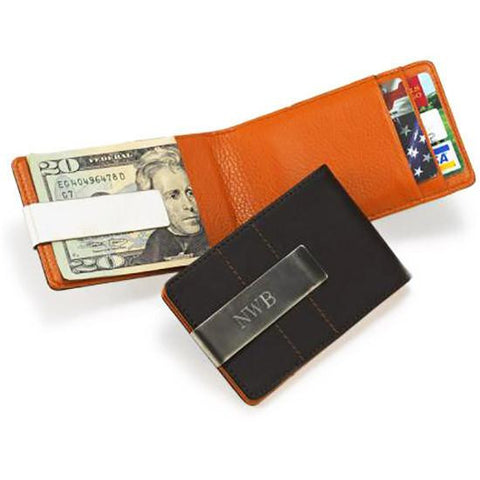 Image of Metro Leather Wallet/Money Clip - Cece & Me - Home and Gifts