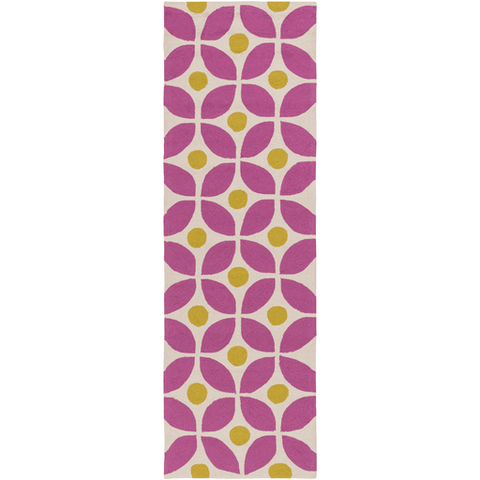Image of Miranda Rug ~ Bright Pink & Lime - Cece & Me - Home and Gifts