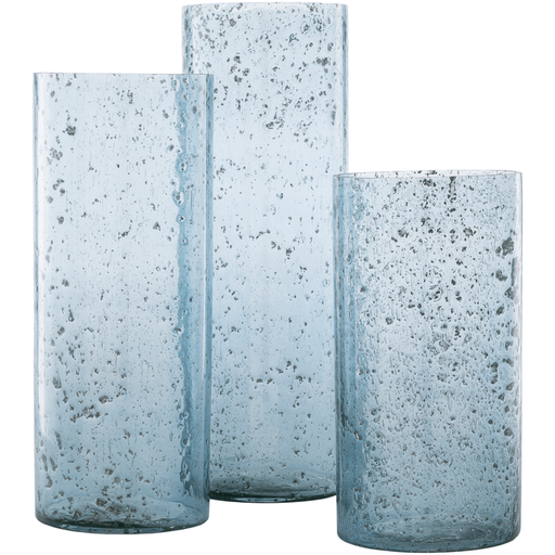 Mist Glass Vase ~ Blue (Set of 3) - Cece & Me - Home and Gifts