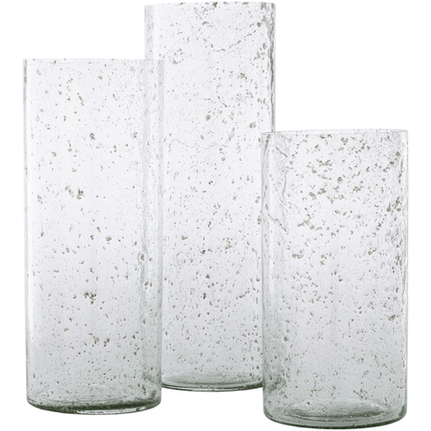 Mist Glass Vase ~ Clear (Set of 3) - Cece & Me - Home and Gifts