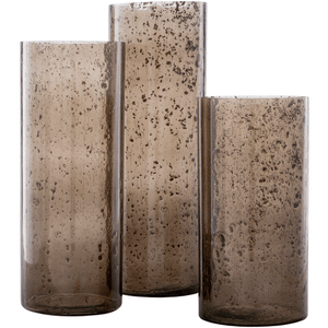 Mist Glass Vase ~ Taupe (Set of 3) - Cece & Me - Home and Gifts