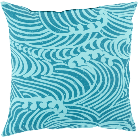 Mizu Pillow ~ Aqua/Teal - Cece & Me - Home and Gifts