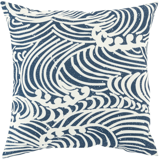 Mizu Pillow ~ Navy/Cream - Cece & Me - Home and Gifts