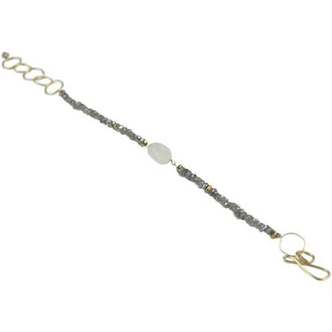 Image of Moonstone Chunk & Labradorite Bracelet - Cece & Me - Home and Gifts