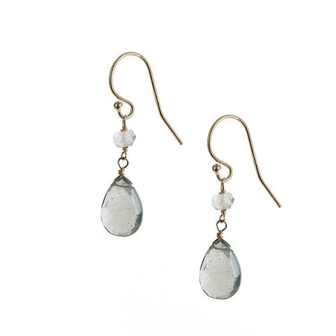 Moss Agate & Aquamarine Drops - Cece & Me - Home and Gifts