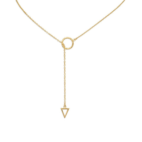 "Image of Multi-shape Lariat Necklace ~ 14 Karat Plated Gold 24"" - Cece & Me - Home and Gifts"