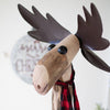 Recycled Wood And Iron Moose