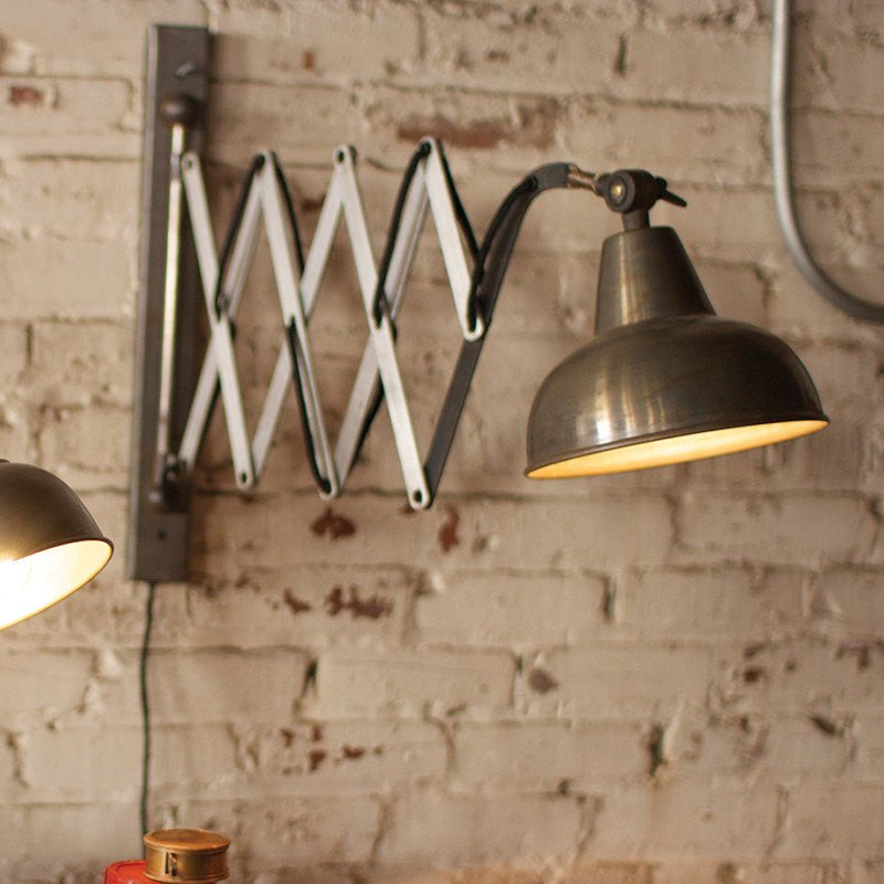 Industrial Vertical Scissor Wall Lamp - Cece & Me - Home and Gifts