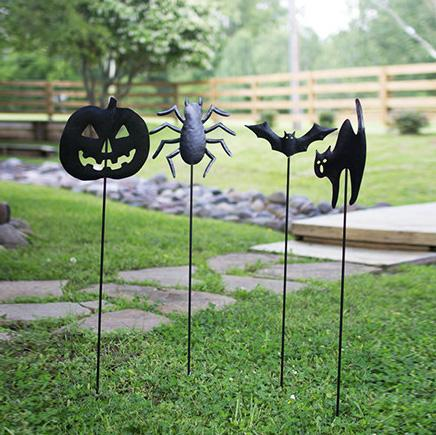 Halloween Yard Stakes (Set of 4) - Cece & Me - Home and Gifts