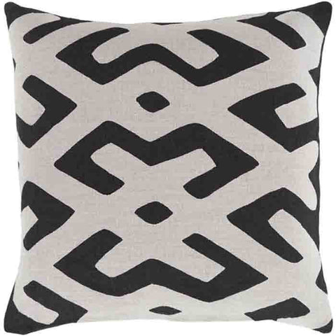 Image of Nairobi Linen Pillow ~ Black - Cece & Me - Home and Gifts