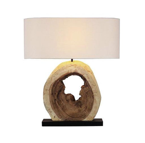 Natural Acacia Wooden Lamp - Cece & Me - Home and Gifts