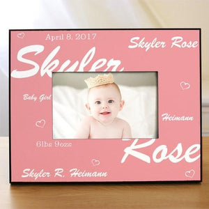 New Baby Printed Frame ~ Pink - Cece & Me - Home and Gifts