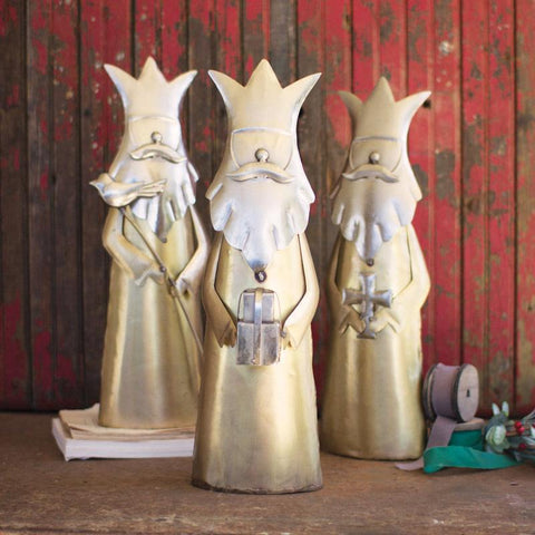 Nickel And Brass Plated Kings (Set of 3) - Cece & Me - Home and Gifts