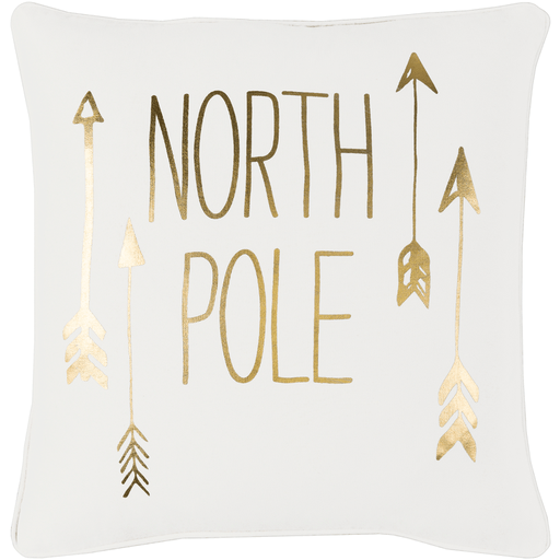North Pole Pillow ~ Gold
