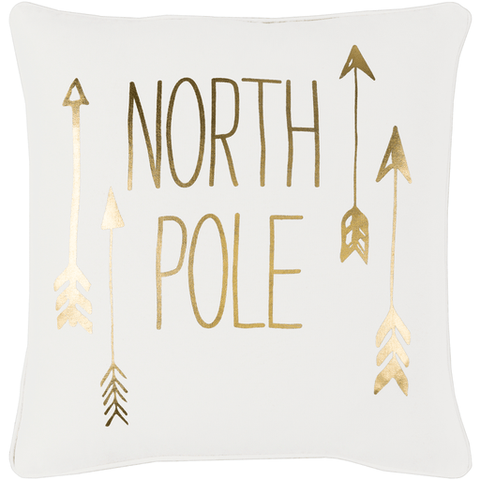 North Pole Pillow ~ Gold - Cece & Me - Home and Gifts