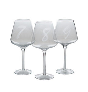 Numbered Wine Glasses (Set of 12) - Cece & Me - Home and Gifts