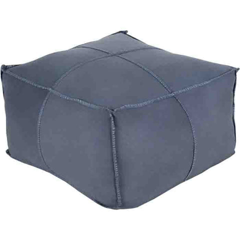 Obsidian Pouf ~ Denim - Cece & Me - Home and Gifts