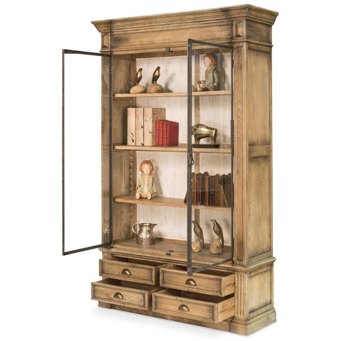 Oak And Metal Classic Cabinet - Cece & Me - Home and Gifts