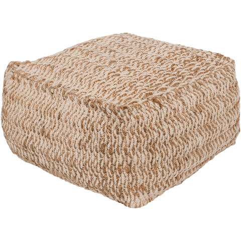 Oak Cove Pouf ~ Ivory & Khaki - Cece & Me - Home and Gifts