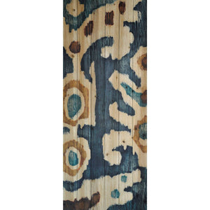 Ocean Ikat I ~ Solid Fir Wood Planks - Cece & Me - Home and Gifts
