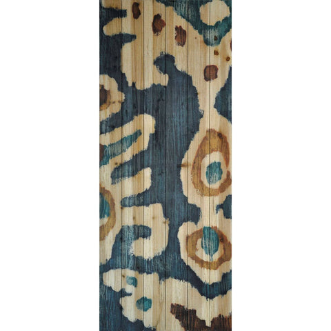 Image of Ocean Ikat II ~ Solid Fir Wood Planks - Cece & Me - Home and Gifts