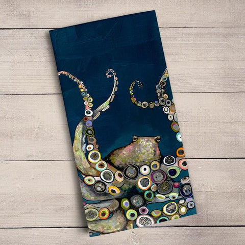Image of Octopus in the Deep Blue Sea Tea Towels - Cece & Me - Home and Gifts