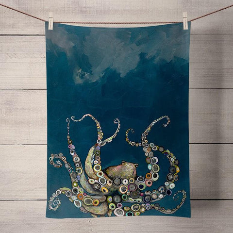 Octopus in the Deep Blue Sea Tea Towels - Cece & Me - Home and Gifts