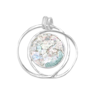 Open Wire Design Ancient Roman Glass Pendant - Cece & Me - Home and Gifts