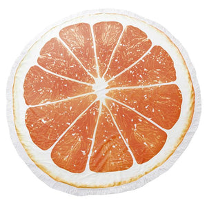 Orange you Glad Round Beach Terry Towel - Cece & Me - Home and Gifts