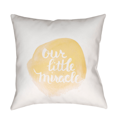 Our Little Miracle Pillow ~ Yellow - Cece & Me - Home and Gifts