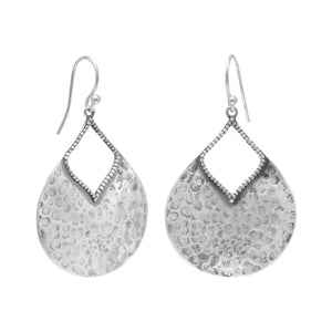 Oxidized Hammered Pear Shape Earrings - Cece & Me - Home and Gifts