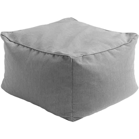Image of San Juan Outdoor Pouf ~ Medium Gray - Cece & Me - Home and Gifts