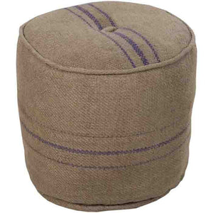 Burlap Pouf - Cece & Me - Home and Gifts