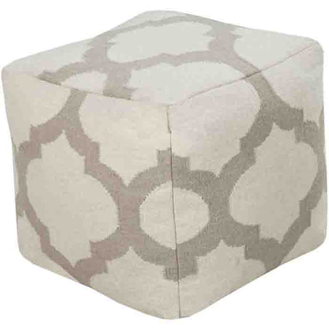 Image of Frontier Pouf ~ Light Gray - Cece & Me - Home and Gifts
