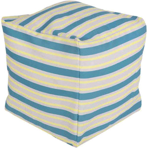 Rain Outdoor Pouf ~ Aqua - Cece & Me - Home and Gifts