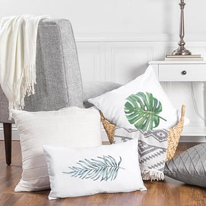 Palm Leaf Lumbar Pillow - Cece & Me - Home and Gifts