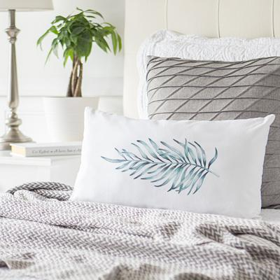 Image of Palm Leaf Lumbar Pillow - Cece & Me - Home and Gifts