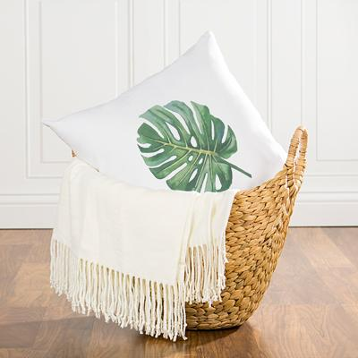 Outstanding Palm Leaf Throw Pillow 16 Ocoug Best Dining Table And Chair Ideas Images Ocougorg
