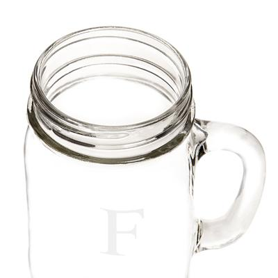 Image of Personalized 16 oz. Old Fashioned Drinking Jars (Set of 4) - Cece & Me - Home and Gifts