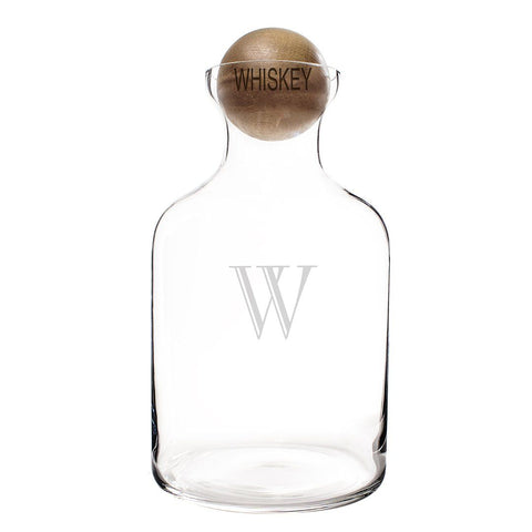 Image of Personalized 56 oz. Glass Decanter with Wood Stopper - Cece & Me - Home and Gifts