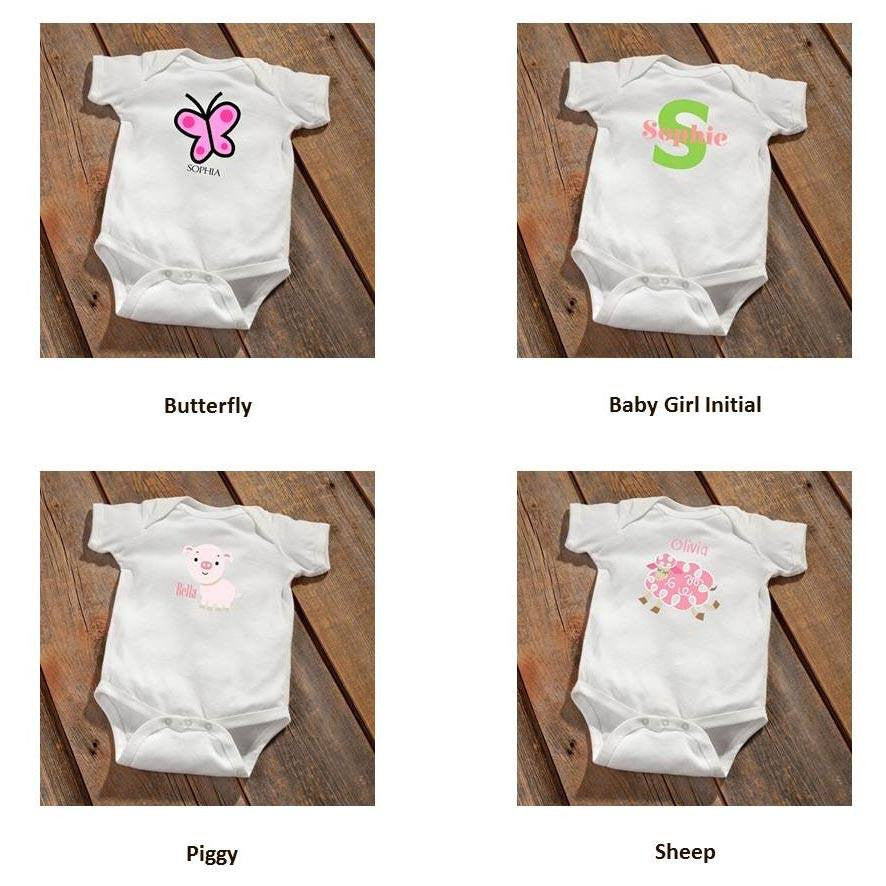 Personalized Baby Botty Onesie - Airplane Design - Cece & Me - Home and Gifts