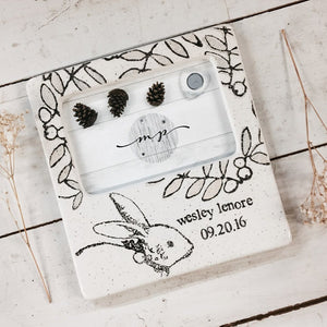 Personalized Baby Bunny Photo Frame - Cece & Me - Home and Gifts