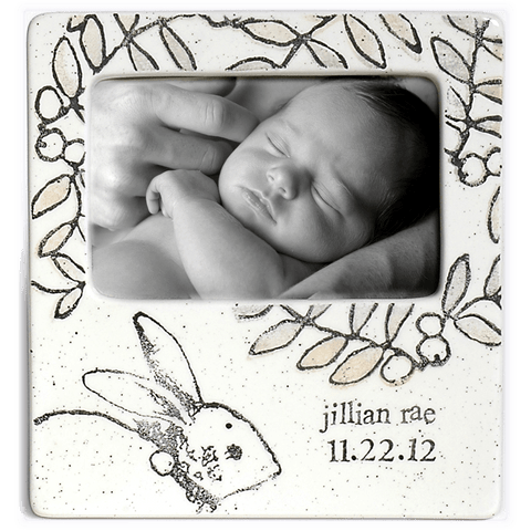 Image of Personalized Baby Bunny Photo Frame - Cece & Me - Home and Gifts