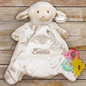 Personalized Baby HuggyBuddy Lamb Blanket - Cece & Me - Home and Gifts