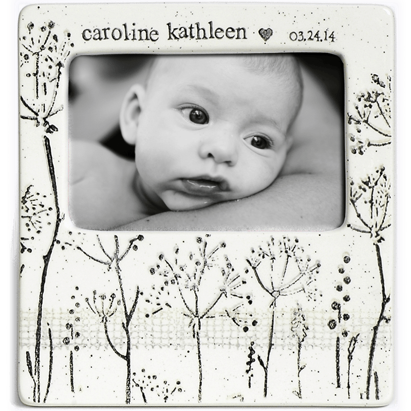 Personalized Baby's Breath Photo Frame - Cece & Me - Home and Gifts
