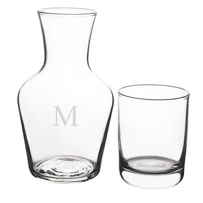 Image of Personalized Bedside Water Carafe Set - Cece & Me - Home and Gifts